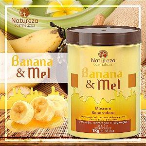 Banana e Mel mascara reparadora