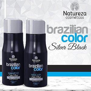 SHAMPOO E MASCARA MATIZADORA SILVER BLACK natureza