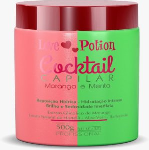 MÁSCARA COCKTAIL MORANGO E MENTA CAPILAR 500G - LOVE POTION
