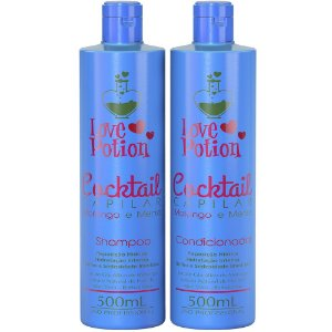 SHAMPOO E CONDICIONADOR MORANGO E MENTA COCKTAIL 500ML - LOVE POTION