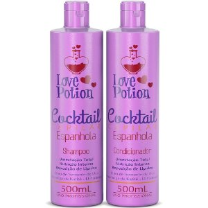 SHAMPOO E CONDICIONADOR ESPANHOLA COCKTAIL 500ml- LOVE POTION