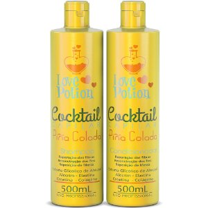 PINA COLADA COCKTAIL - SHAMPOO E CONDICIONADOR 500ML - LOVE POTION