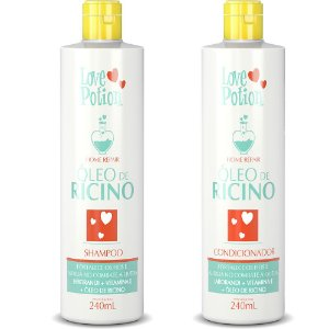 HOME CARE ÓLEO DE RÍCINO SHAMPOO E CONDICIONADOR  240ML - LOVE POTION