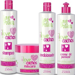 KIT 4 PASSOS - I LOVE MY CACHOS 250ML