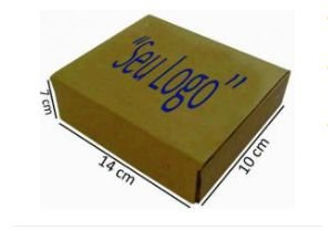 Caixa 0 (ZERO) Lisa Parda Modelo Correio PERSONALIZADA 14x10x5,5 - Quantidade 300 unidades