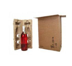 Caixa para Vinho 2 Garrafas - 26x13x36 - Pct com 25 unidades - SEM O ACESSÓRIO