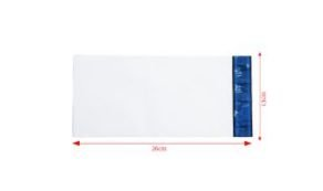 Envelope Plástico Liso c/ Bolha 13x26 Branco - Pct com 50 unidades
