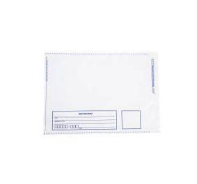 Envelope Plástico 32x40 Remetente e Destinatário Branco - Pct com 100 unidades