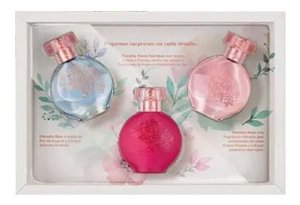 Kit Presente Feminino Floratta Flower: Blue 30ml + Rose 30ml + Flores Secretas 30ml