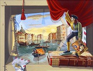 Gravura Carta de Veneza - Série Retrospecto