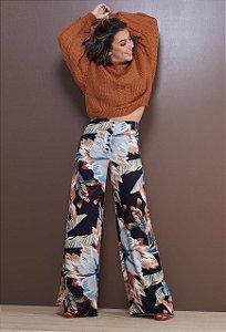 Pantalona Botões Floral