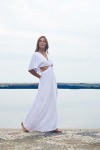 Vestido Manga Ampla Branco