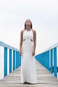 Vestido Longo Fenda Branco