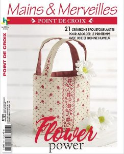 MAINS & MERVEILLES POINT DE CROIX N°131 - FLOWER POWER!