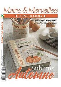 MAINS & MERVEILLES POINT DE CROIX N°133 - SUBLIME AUTOMNE