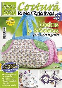 FAÇA FÁCIL TÉCNICA #21 -  COSTURA COM IDEIAS CRIATIVAS - Ideias e modelos para todos os gostos