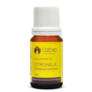 Óleo Essencial de Citronela Repelente Natural Orgânico – Cativa Natureza
