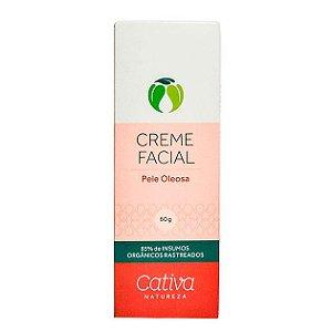 Creme Hidratante Facial Pele Oleosa Orgânico Natural – Cativa Natureza