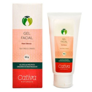 Gel Facial Pele Oleosa Orgânico Natural – Cativa Natureza