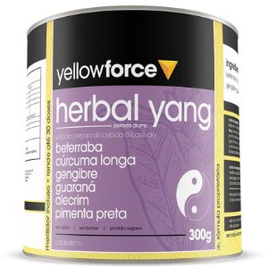 Herbal Yang Pré Treino Energia Natural 300 g – Yellow Force
