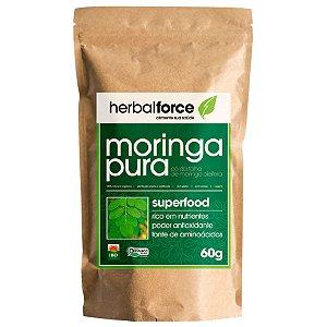 Moringa Pura Orgânica em Pó 60 g – Herbal Force
