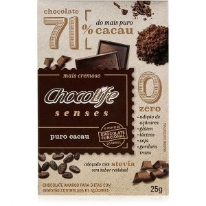 Senses Puro 71% Cacau 25 g – Chocolife
