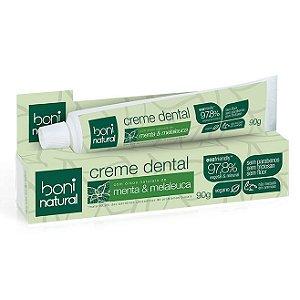 Creme Dental Sem Flúor Menta e Melaleuca – Boni Natural