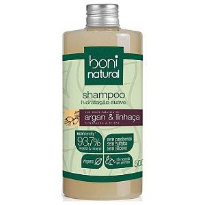 Shampoo Argan e Linhaça – Boni Natural