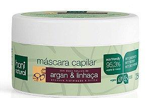 Máscara Capilar Argan e Linhaça – Boni Natural
