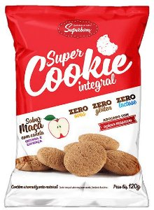 Super Cookie Integral Maçã com Canela 120 g – Superbom