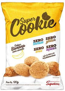 Super Cookie Zero Banana e Canela 120 g – Superbom