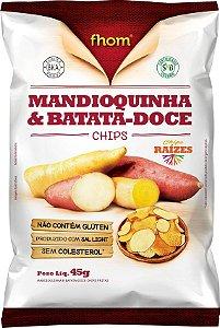 Mandioquinha e Batata-Doce Chips 45 g – Fhom