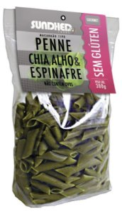 Penne Chia Espinafre e Alho 300 g – Sundhed