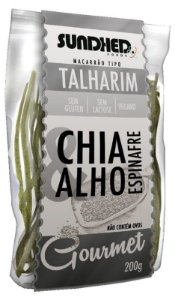 Talharim Chia, Alho e Espinafre 200 g – Sundhed