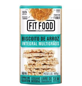 Biscoito de Arroz Multigrãos 100 g – Fit Food