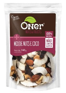 Mix de Nuts e Coco 140 g – Oner