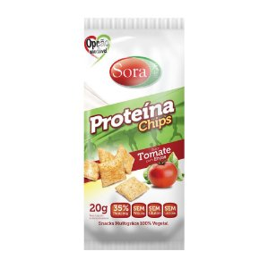 Proteína Chips Tomate com Ervas 20 g – Sora