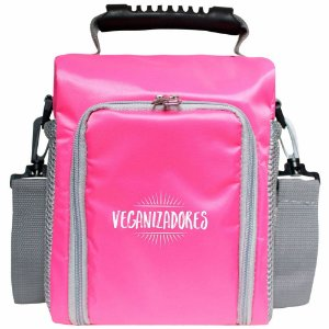 Bag Térmica Rosa com Acessórios – Veganizadores