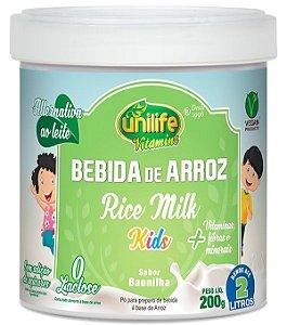 Bebida de Arroz Kids Sabor Baunilha 200 g – Unilife