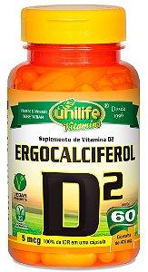 Vitamina D2 (Ergocalciferol) 470 mg - 60 cáps – Unilife