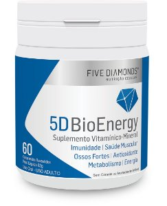 5D BioEnergy Polivitamínico - 60 cápsulas - Five Diamonds