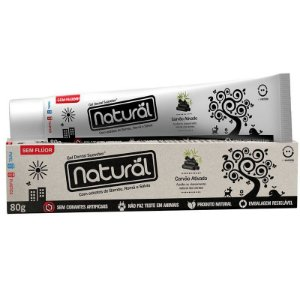Creme Dental Natural com Carvão Ativado Sem Flúor 80 g – Suavetex