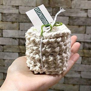 10x EcoPad Disco de Crochê 100% Algodão - Demaquilante / Limpeza Facial