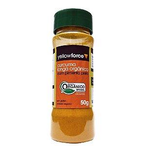 Cúrcuma Longa Orgânica com Pimenta Preta em Pó – Yellow Force
