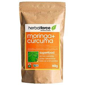 Moringa Orgânica com Curcumina e Pimenta Preta - Herbal Force