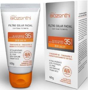 Filtro Solar Facial Hidratante FPS/UVB 35 UVA/PF 31.6 - Biozenthi