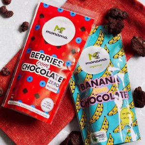KIT Berries + Banana com Chocolate - Monama