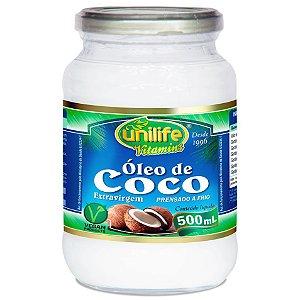 Óleo de Coco Extra Virgem 500 ml - Unilife