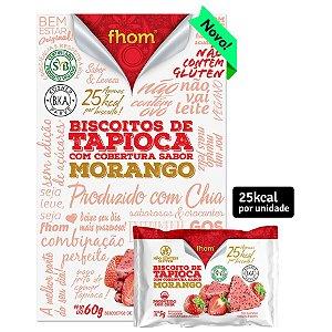 Biscoito de Tapioca e Morango 60 g – Fhom