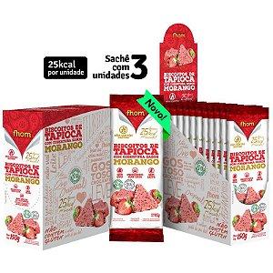 Biscoito Vegano de Tapioca e Morango 15 g – Fhom